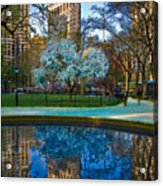 Spring In Madison Square Park Acrylic Print