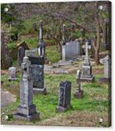 Spring In Oak Hill Cemetery #4 Acrylic Print
