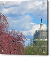 Spring In Washington And Dressed In Scaffolding Acrylic Print