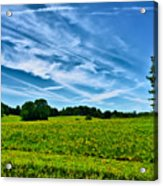 Spring Landscape In Nh Acrylic Print
