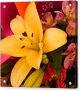 Spring Lily Bouquet Acrylic Print