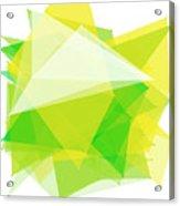 Spring Polygon Pattern Acrylic Print