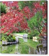 Spring Pond Reflection Acrylic Print