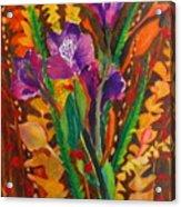 Spring Purple Bouquet Acrylic Print