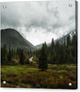 Spring Rain In The Wasatch Acrylic Print