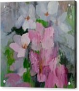 Spring Rain Oil Painting Acrylic Print