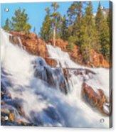 Spring Runoff At Glen Alpine Falls Acrylic Print