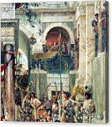 Spring Acrylic Print by Sir Lawrence Alma-Tadema
