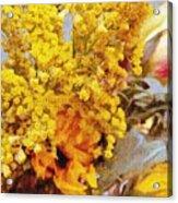 Spring Sky Bouquet Acrylic Print