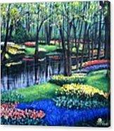 Spring Splendor Tulip Garden Acrylic Print