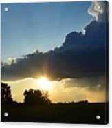 The Sun Always Comes After The Storm Acrylic Print