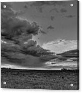 Spring Storm Front In Black And White Acrylic Print
