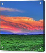 Spring Storm Over Wausau Acrylic Print