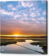 Spring Sunrise On Arcata Bay Acrylic Print