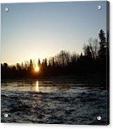 Spring Sunrise Over Mississippi River Acrylic Print