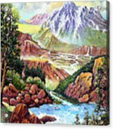 Spring Thaw High In The Rockies. Acrylic Print