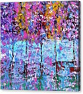 Spring Time In The Woods Abstract Oil Painting Acrylic Print
