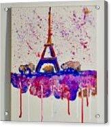 Spring Time. Paris. Eiffel Tower.  Acrylic Print