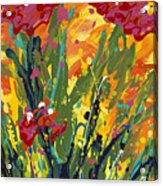 Spring Tulips Triptych Panel 1 Acrylic Print