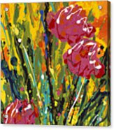 Spring Tulips Triptych Panel 2 Acrylic Print