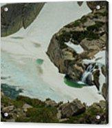 Spring Waterfall Arial Acrylic Print