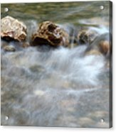 Spring With Rocks Nature Scene Acrylic Print
