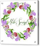 Spring Wreath Acrylic Print