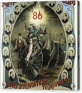 Springfield Bicycle Club 1886 Acrylic Print