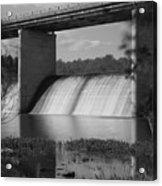 Springfield Lake Dam Grayscale Acrylic Print