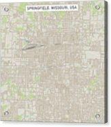 Springfield Missouri Us City Street Map Acrylic Print