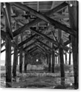Springmaid Pier In Myrtle Beach South Carolina Acrylic Print