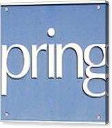 Springs Blue Acrylic Print