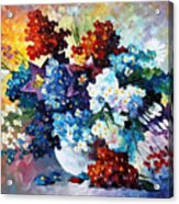 Springs Smile - Palette Knife Oil Painting On Canvas By Leonid Afremov Acrylic Print