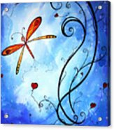 Springs Sweet Song Original Madart Painting Acrylic Print