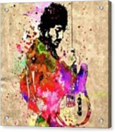 Springsteen Colored Grunge Acrylic Print