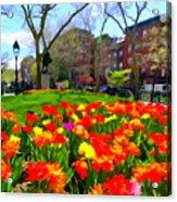 Springtime At Abingdon Square Park Acrylic Print