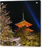 Springtime At Kiyomizu-dera Acrylic Print