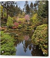 Springtime At Portland Japanese Garden Acrylic Print