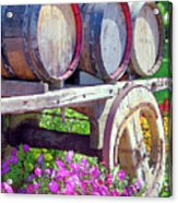 Springtime At V Sattui Winery St Helena California Acrylic Print by Michelle Wiarda