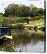 Springtime By The Canal Acrylic Print