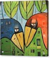 Springtime Lovebirds Acrylic Print