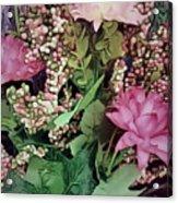 Springtime With Flowers Acrylic Print