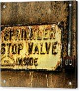 Sprinkler Acrylic Print