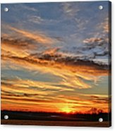 Spwinter Sunset Acrylic Print