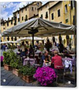 Square Amphitheater In Lucca Italy Acrylic Print