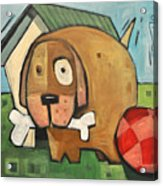 Square Dog Acrylic Print
