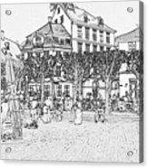 Square In Copenhagen At Nyhavn Acrylic Print