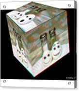 Square Meal - Use Red-cyan 3d Glasses Acrylic Print