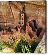 Square Tower Overlook - Alcove Dwellers Acrylic Print