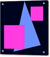 Squares And Triangle Acrylic Print